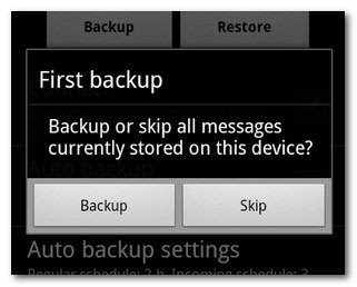 how to backup text sms in androd