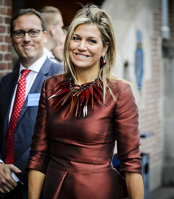 Queen Maxima Attended The Opening Of A Conference In Amsterdam