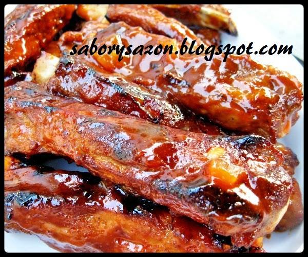 receta de costillas de cerdo