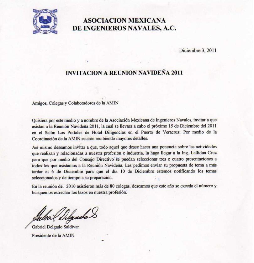 INGENIERIA NAVAL U.V.: 2011