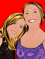 Two Sisters in Cartoon