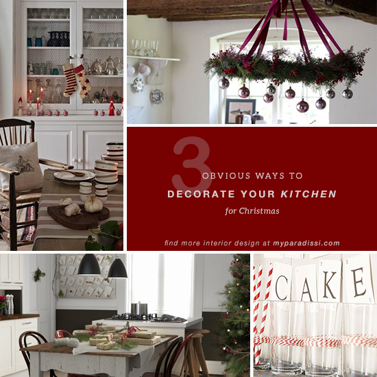 how to decorate your kitchen for christmas in 3 obvious ways - How To Decorate Your Kitchen Island For Christmas