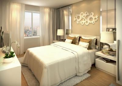 dormitorio matrimonial color tierra