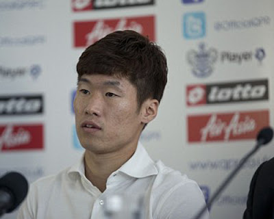 Ji Sung was introduced during a press conference by QPR
