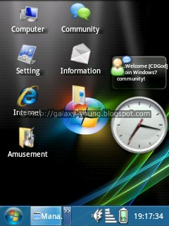 Samsung Galaxy Young: Tema windows7 versi komputer dalam android