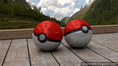 Tutorial Desain Modeling pokeball 3D Realistis di blender