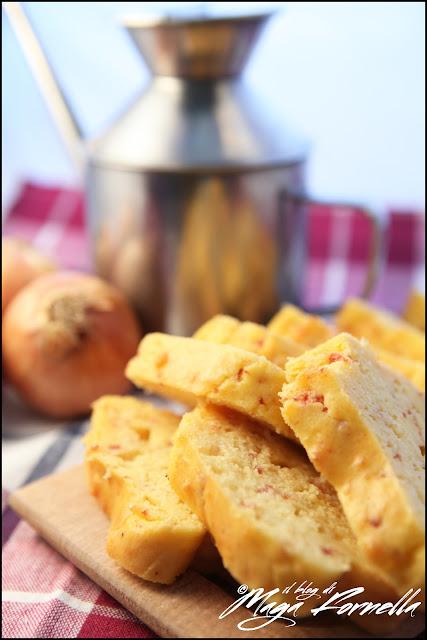 plumcake con salame piccante, scamorza affumicata e pecorino