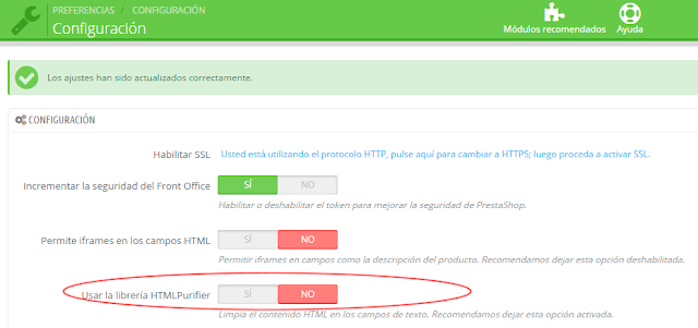 Desactivar libreria HTML Purifier - crear pop-ups personalizados Prestashop 1.6