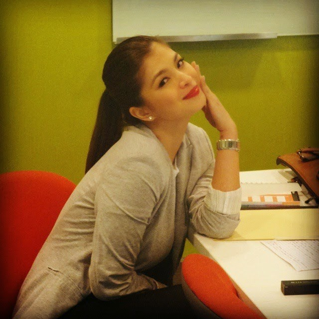Spotted: Angel Locsin at Star Cinema's office