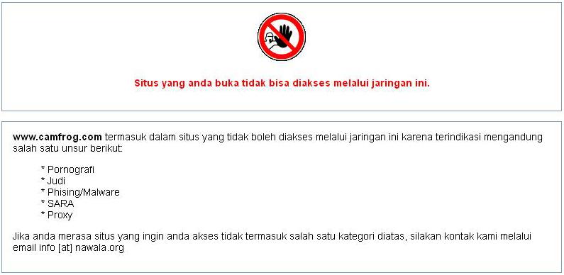 Camfrog.com di Block Nawala