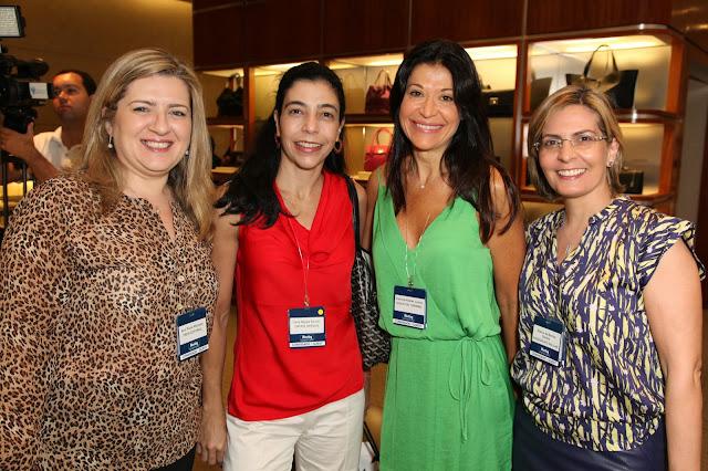 Ana Paula Marques, Carla Serson, Patricia Leone and Elaine de Barros Santos at Tiifany & Co. 18th Meeting International