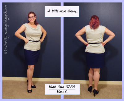 Kwik Sew 3765, dressier look, front and back