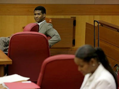 Usher and Tameka Foster in Court Room