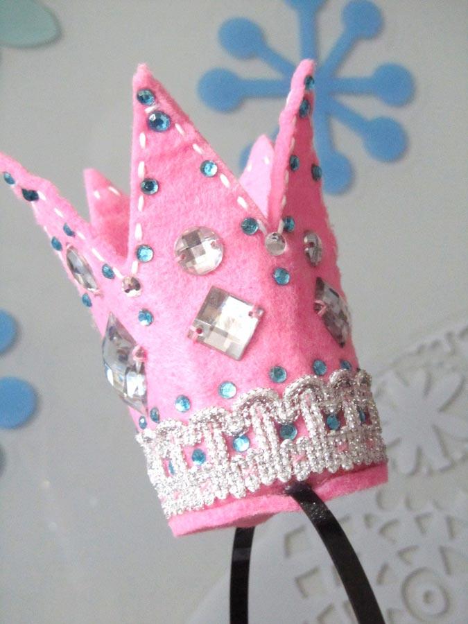 корона для девочки своими руками из фетра