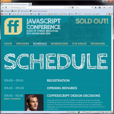 Screen shot of http://2011.full-frontal.org/schedule.