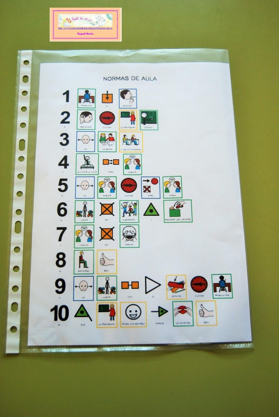 Resultado de imagen de cuaderno pictogramas aula tea