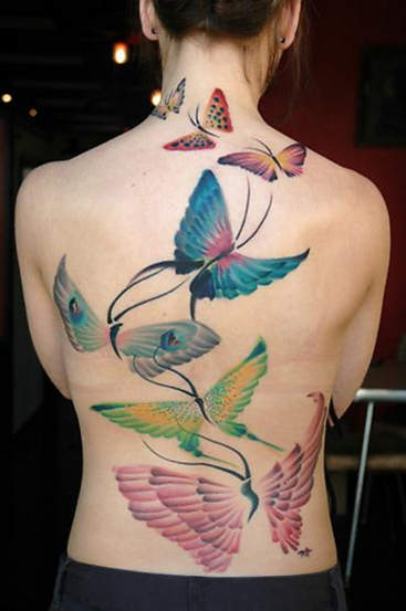 unique butterfly tattoos. Tribal Butterfly Tattoos are