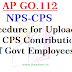 AP GO 112 Guidelines for Uploading CPS Contributions