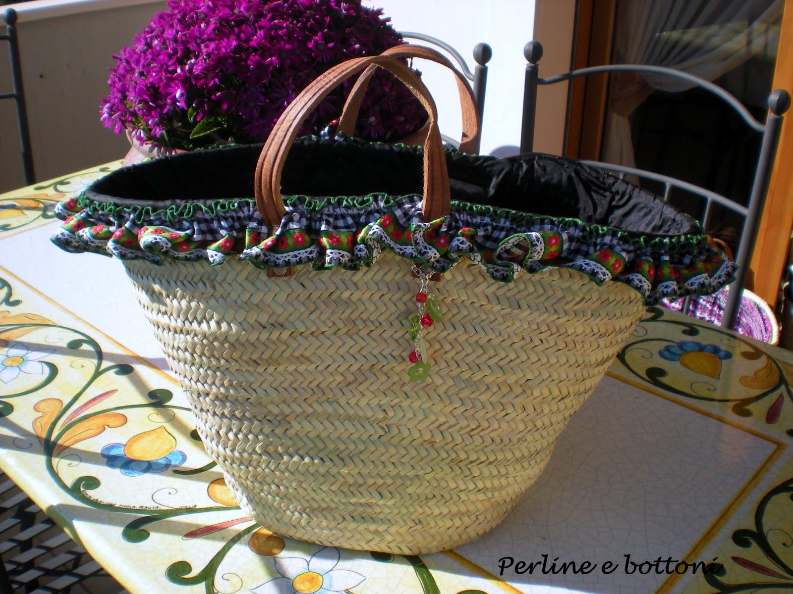 Borse Di Paglia Catania : Perline e bottoni borse di paglia