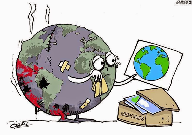 """WE'RE SORRY MOTHER EARTH..."