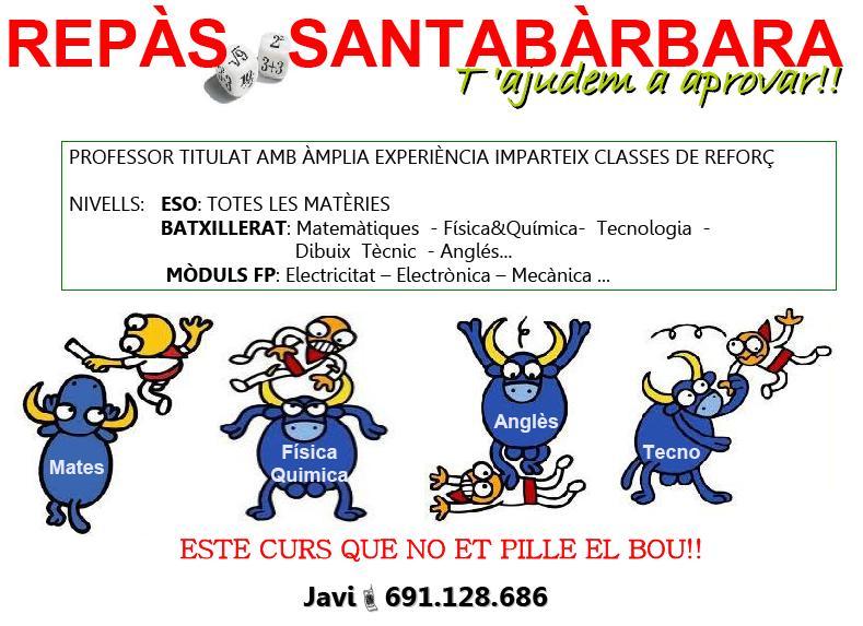 Repàs Santa Bàrbara: t'ajudem a aprovar