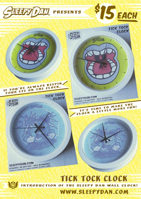 Sleepy Dan Series 1 Tick Tock Wall Clocks - &#8220;Sleep Attack&#8221; &amp; &#8220;Yawn&#8221;