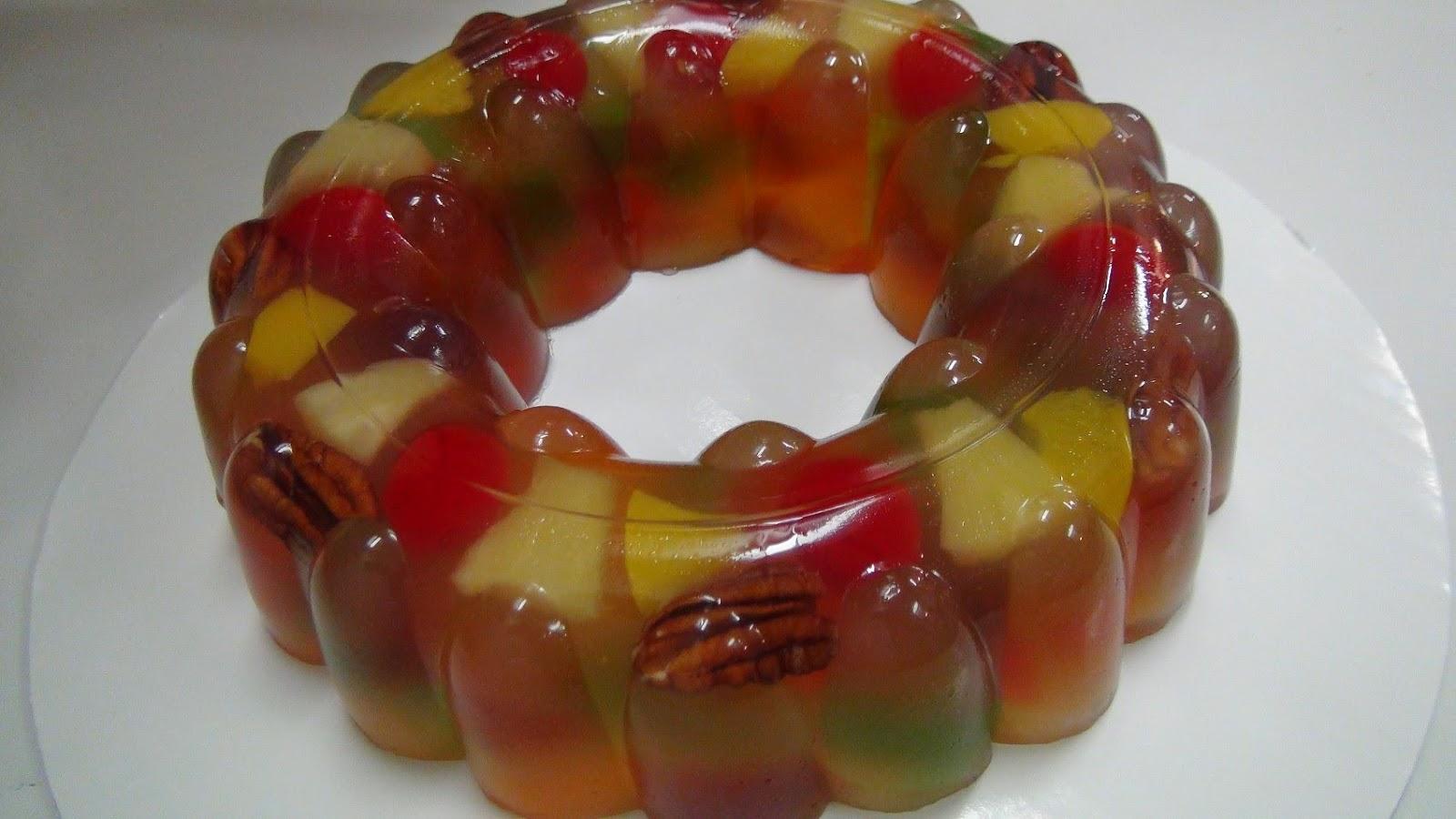 Molde de Gelatina con Fruta Mixta