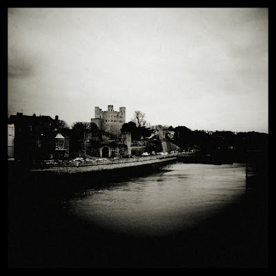 Rochester Castle taken from the Strood-Rochester bridge on my 16 mile run