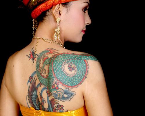 dragon tattoo designs for girls fashion club. Black Bedroom Furniture Sets. Home Design Ideas
