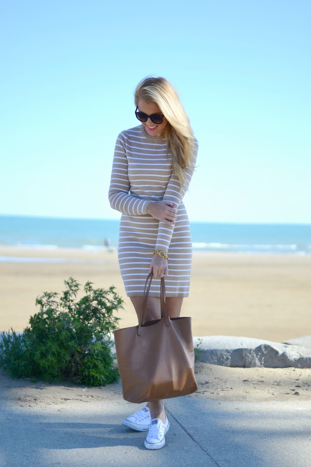 vineyard vines striped sweater dress