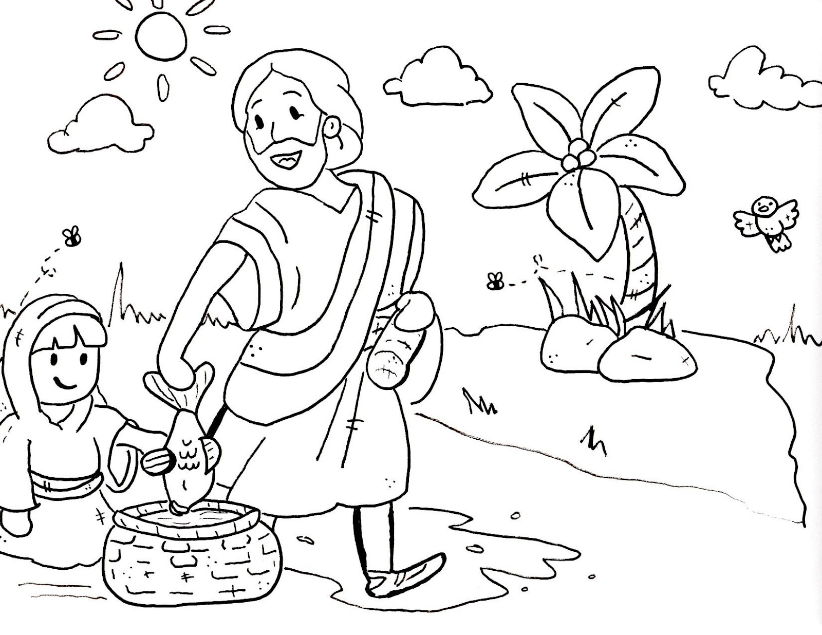 Bible Coloring Pages - Kidsuki