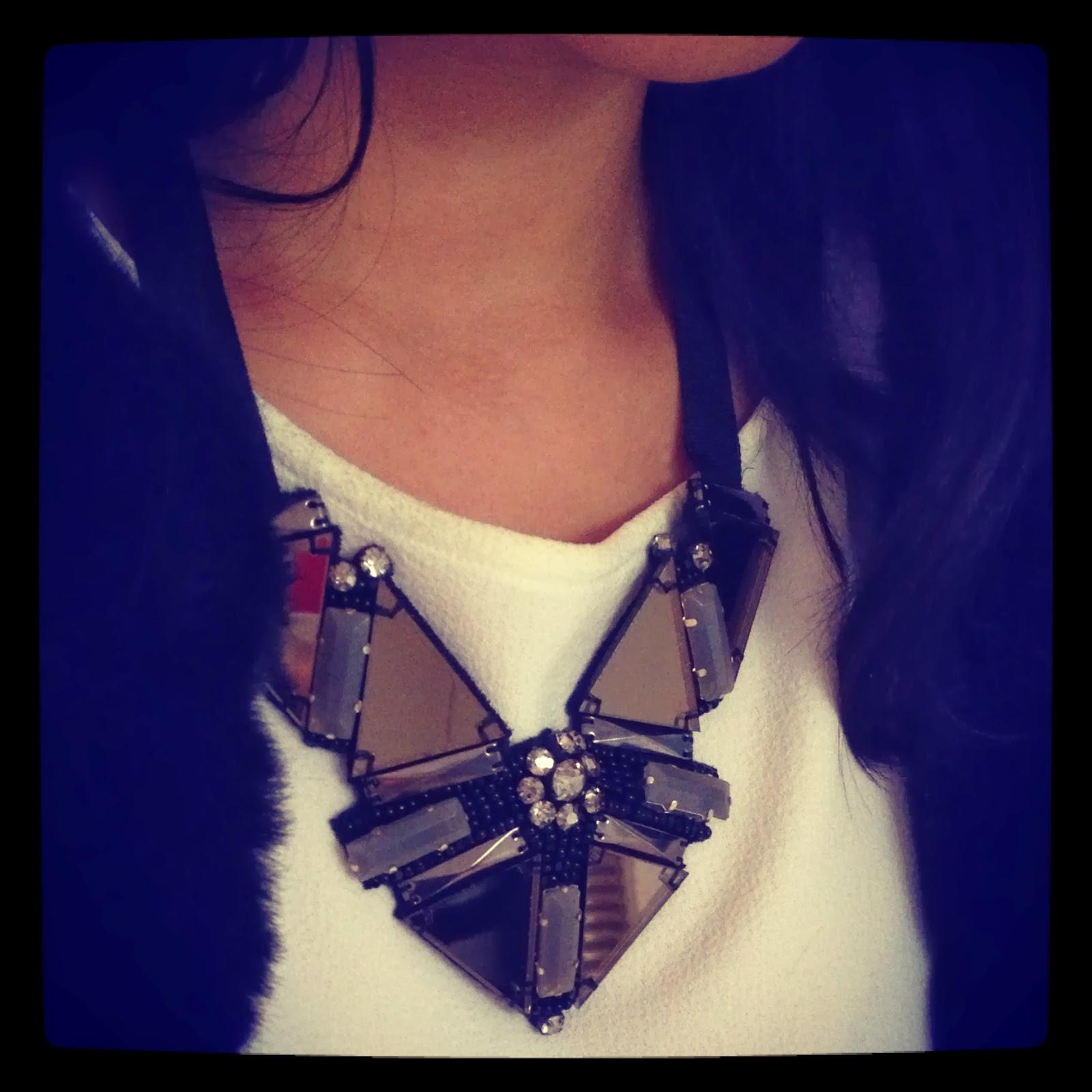 Rhinestone statemenet necklace by 495DM