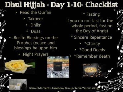 Dhul Hijjah Checklist