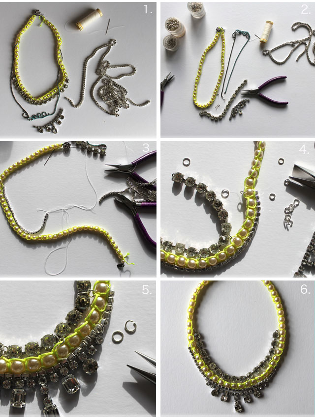 DIY - diamante statement necklace | Lotts and Lots | Making the ...
