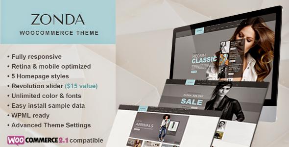 Zonda – Ultimate Responsive Woocommerce Theme