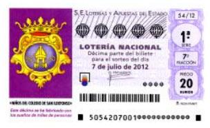Sorteo especial de julio de la Lotería Nacional