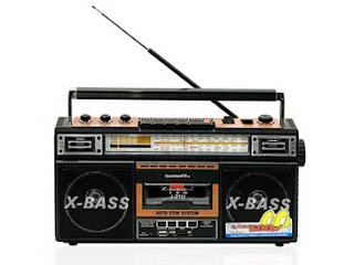 1970s Style AM/FM/ShortWave Radio Cassette Player