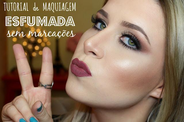 tutorial de maquiagem esfumada sem marcações
