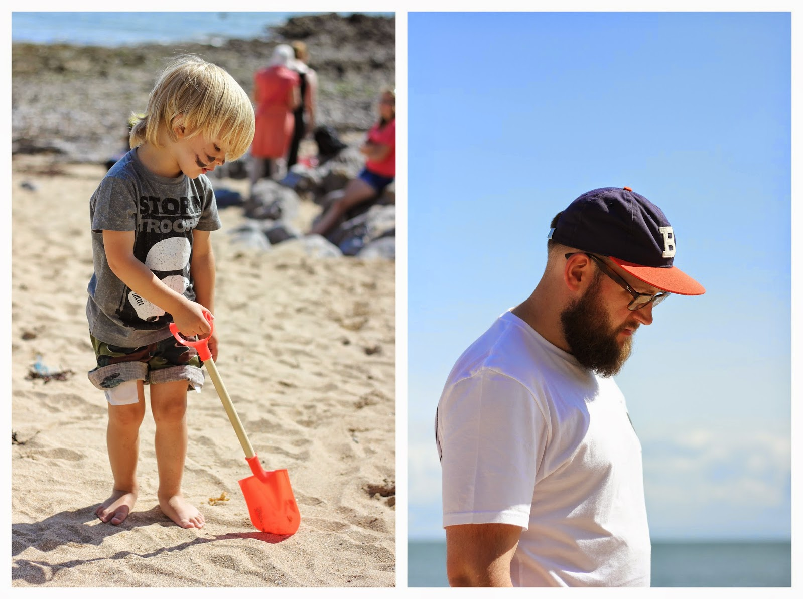 digging on the beach