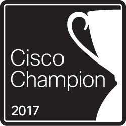 I'm Cisco Champion Community member for 2017!