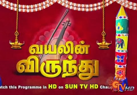 Violin Virunthu Sun Tv Pongal Special Program Shows 15-01-2014