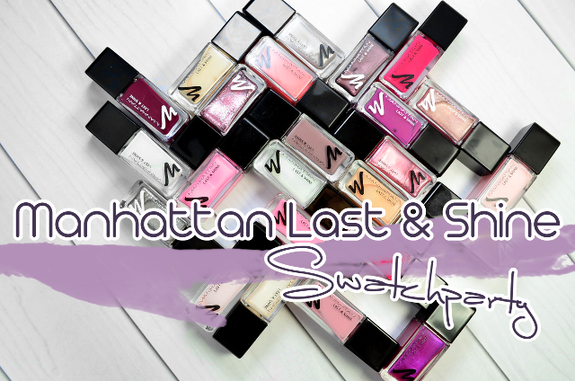 Manhattan Last And Shine Nail Polish Swatches