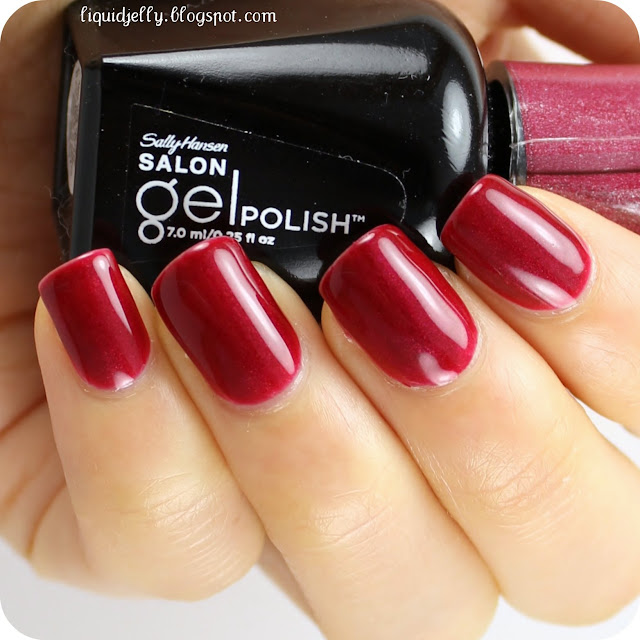 Deep Wine Nail Polish: Liquid Jelly: Sally Hansen Gel Polish Starter Kit Review
