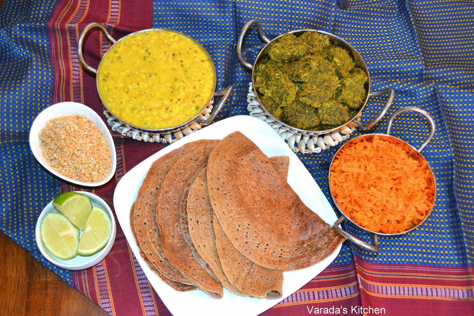 Varadas kitchen traditional maharashtrian meal a maharashtrian meal generally starts with dalwaransada waran with rice the next course is poli or chapati the last course is yogurt or buttermilk with forumfinder Gallery