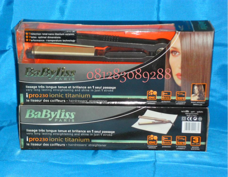 jual catok rambut berkualitas bagus merk babyliss yang mengandung ion