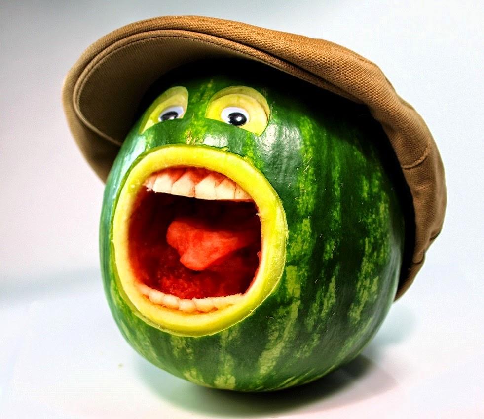 buah semangka lucu