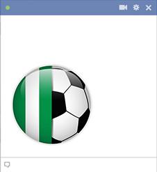Nigeria football emoticon