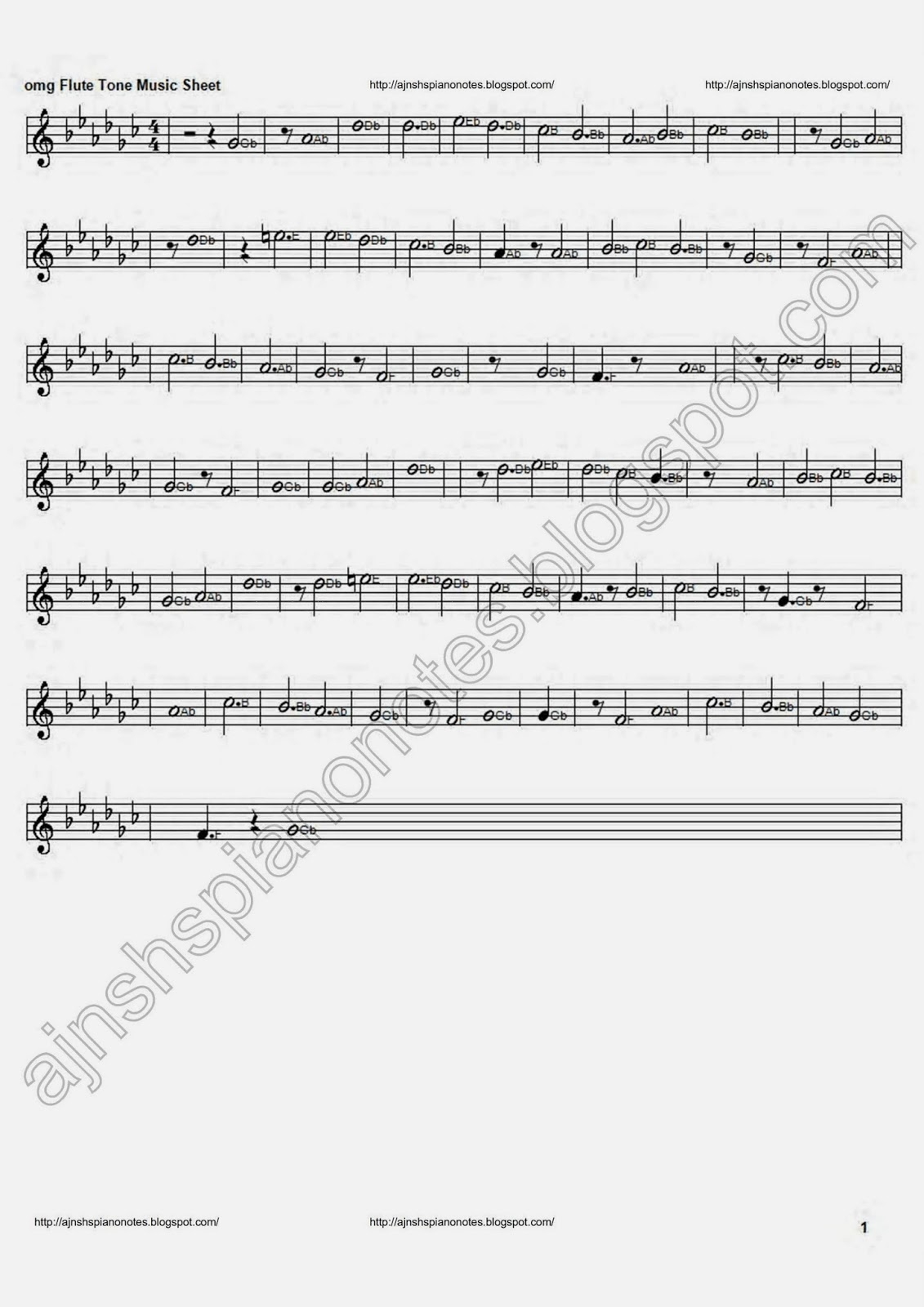 Omg Flute Tune Piano Music Sheet Songs Piano Notes