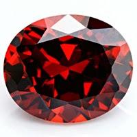 oval garnet cz stones
