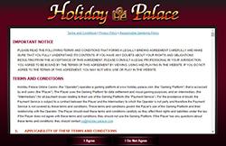 ข้อตกลง holiday palace